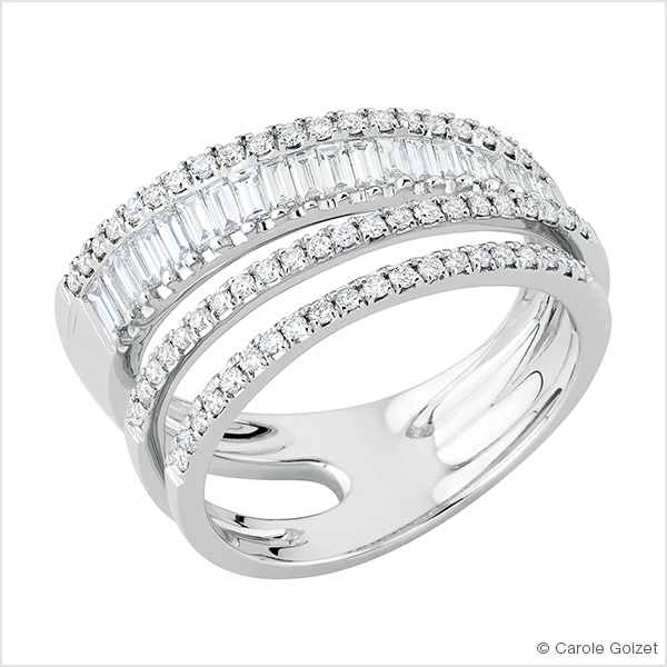 Bague « Exquise » Or blanc et diamants