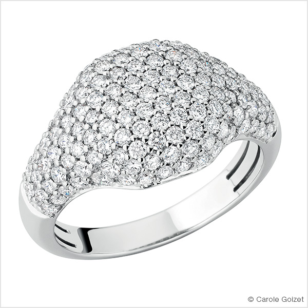 Bague « Fizz » Or blanc et diamants